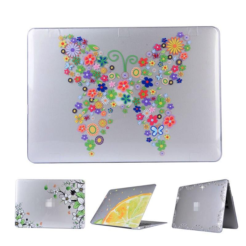 For Macbook air 11.6 pro 13.3 Slim Laptop Hard Case Cover Skin For Macbook retina 13.3 Flower Print Laptop Replace Case Fundas