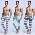 Simple Cotton Stripe Men's Warm Pants Winter Leggings Thickened Home Furnishing Long Johns