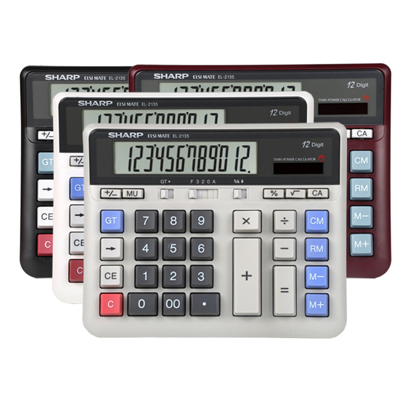 Sharp EL 2135 Computer Large Button Calculator Bank Financial Accounting Special Large Desktop Office Business