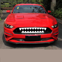 Cool Cartoon Red White LED Light Tooth Racing Grills Decoration For Ford Mustang 2018 ADA006