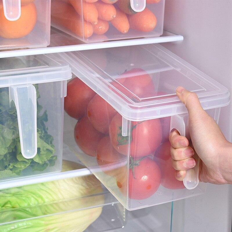 Cocina transparente de los PP caja de almacenamiento de granos frijoles de almacenamiento contienen sellado organizador contenedor de alimentos refrigerador cajas de almacenamiento