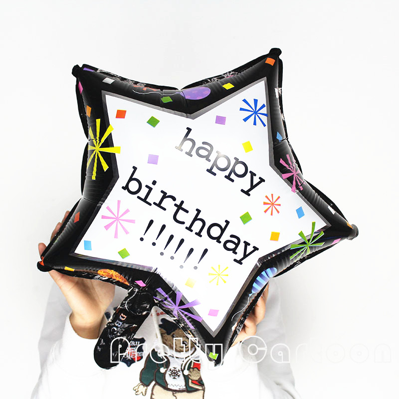 18'' star foil balloon Happy Birthday balloons wedding party happy birthday glob