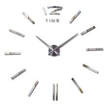 2017 nuevo reloj relojes horloge reloj de espejo de Acrílico Pegatinas de Pared real de Cuarzo Moderna Sala de estar 3D DIY Campana