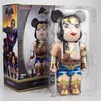 28CM Wonder Woman Be@rbrick Doll figure Toy Wonder Woman Bearbrick Model Action Figure 400% PVC Collection Bearbrick Toys Gift