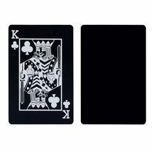 Waterproof Plastic Black Playing Cards