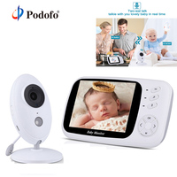 Podofo Wireless 3.5'' Baby Monitor Digital Video Audio Music Portable Infant Camera Nanny Monitor Temperature Sensor Intercom
