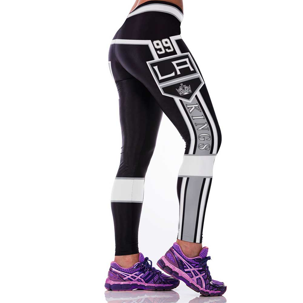 New Women Elastic Sporting Fitness Legging Digital Printed Kings Sexy Pants Gymnasium Workout Leggings Leggins Activewear