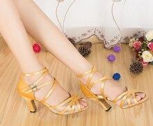 New Ladies Champagne Satin SALSA Dance Shoes Latin Dance Shoes Tango Shoes Ballroom Shoes for Women