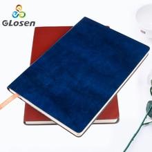 Business PU A5 Notebook Office Conference Notebook Basic Simple Notepad Office Notepad Stationery Dark Brown Glosen A911