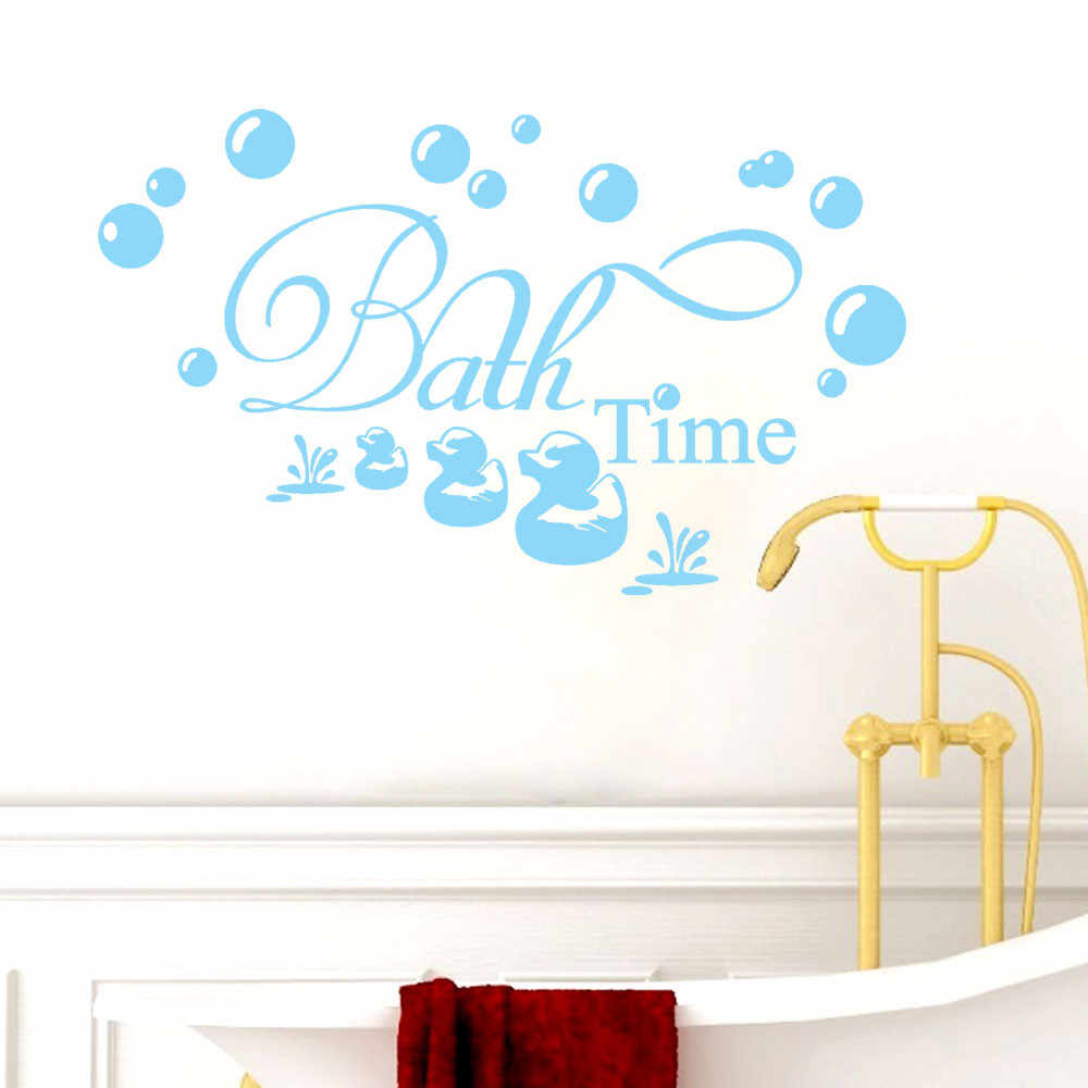 Bath Time Wall Sticker Living Room Bedroom Bible Verse Quote Wall Decal  Vinyl Home Decor Art Mural #