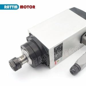"Image 2 - כיכר 3KW אוויר מקורר ציר מנוע ER20 18000 סל""ד 300Hz 4 מסבים & 3kw VFD 220V מהפך עבור CNC נתב חריטת כרסום"