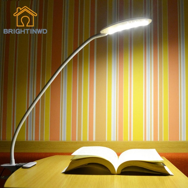 USB Desk Light Clipper Clip on Adjustable Multi-Angles LED Lamp Eye Protection Reading Light Table Lamp