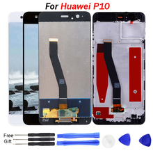 For Huawei P10 LCD Display With Touch Screen Assembly for huawei p10 lcd screen Replacement VTR-L09 VTR-L10 VTR-L29 With Tools p10 two sides led display screen red color for text with size w71 x h23cm