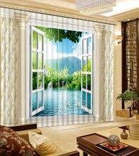 Modern Home Decoration Living Room Curtains Decoration European 3D Curtains For Living room Blackout roman curtains