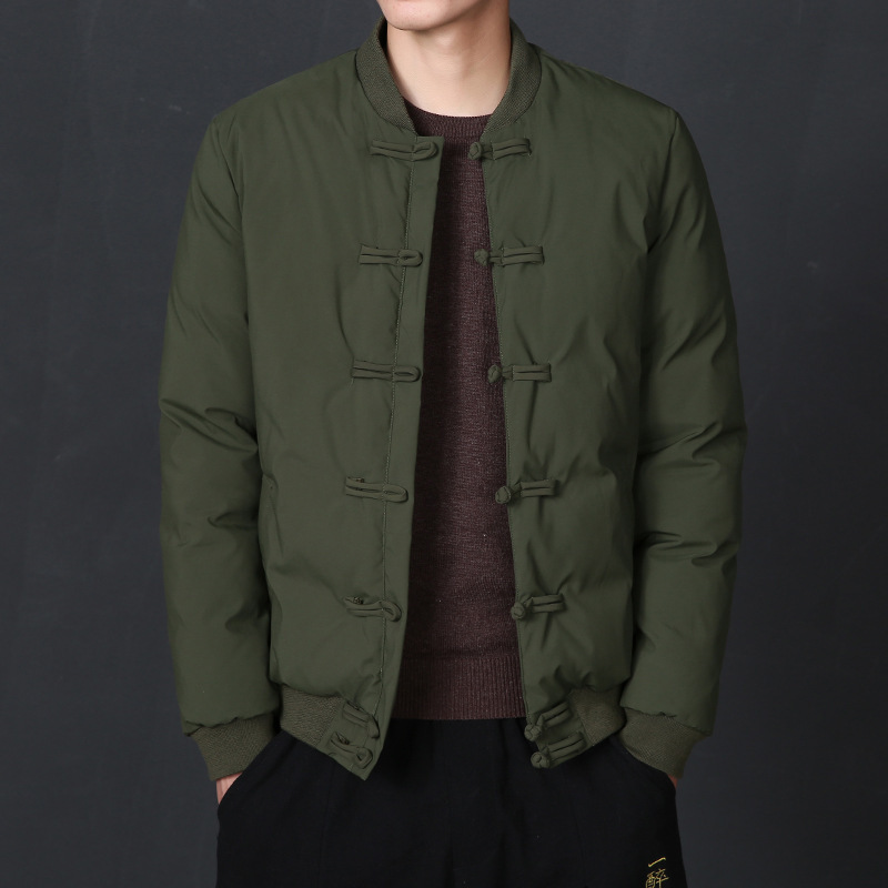 Winter Jacket Men Vintage Parka Coat Men Male Jacket Thick Outwear Slim Casual Hooded Down Jacket Plus Size Solid Chinese Style