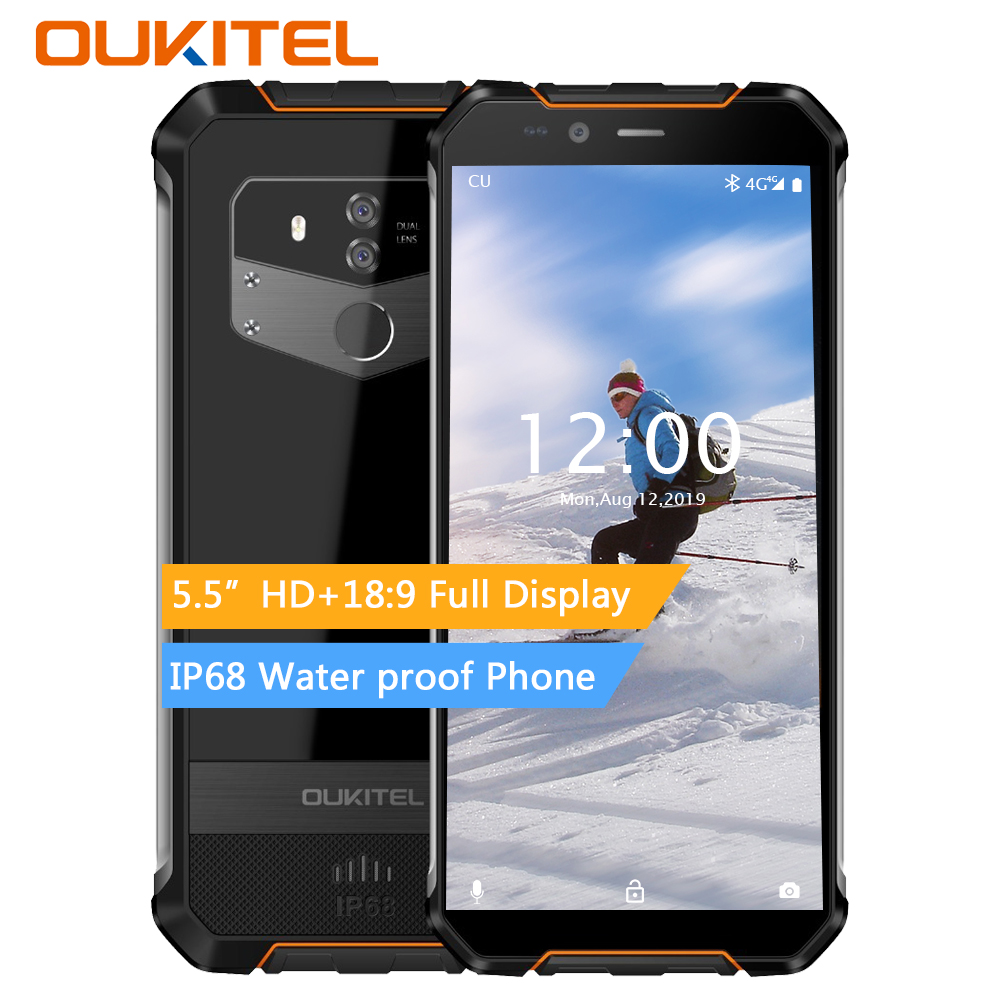 Oukitel Wp1 Ip68 Waterproof 4gb 64gb 5000mah Mtk6763 Octa Core 5.5
