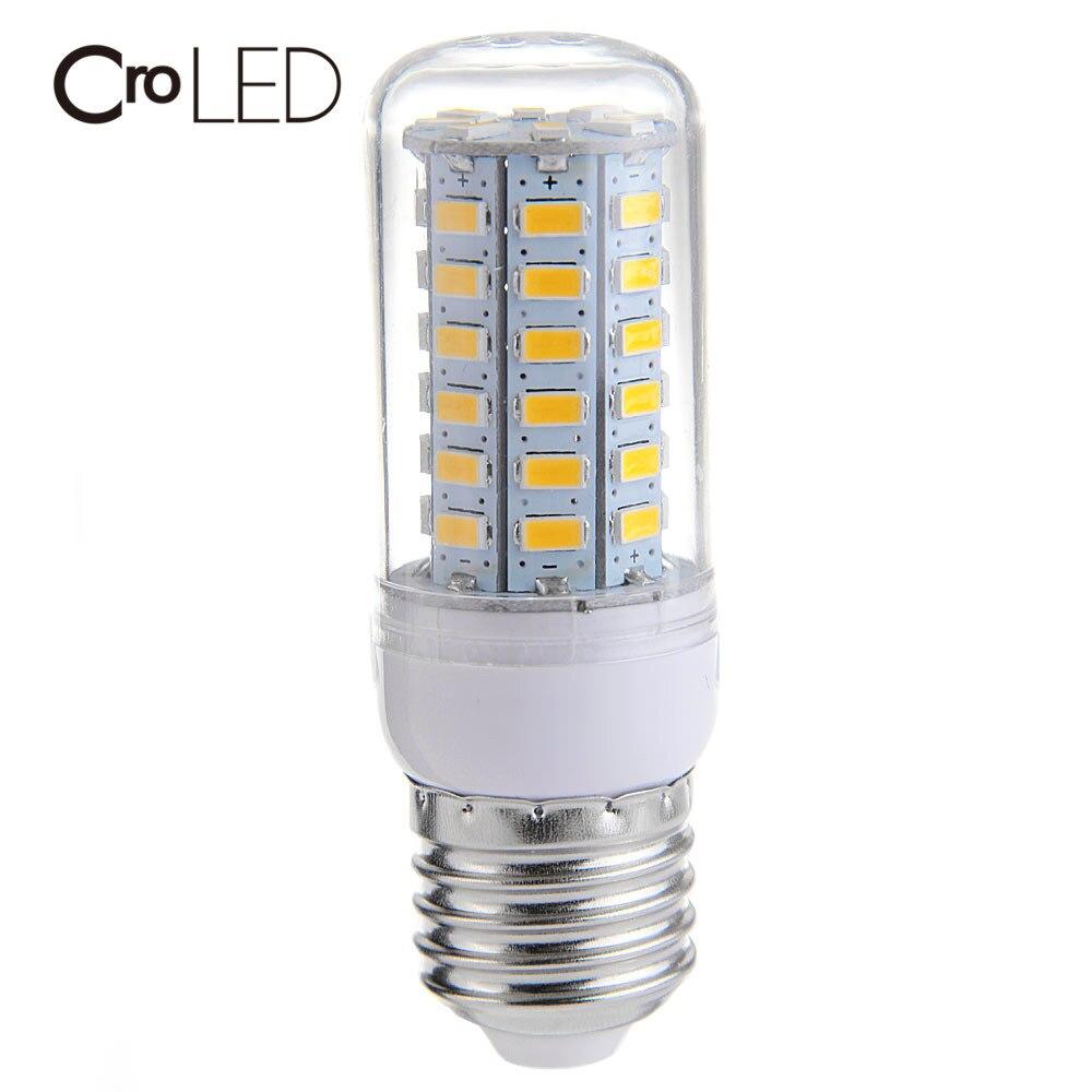 CroLED E27 LED Lamp 9W 56leds 5730SMD 850LM LED Light Corn Bulb Light No Flicker Lights Energy saving Light Bulb