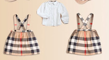 Free Shipping! High quality! Summer New Baby girl strap dress + white shirt suit girls top + dresses two-piece 5set/lot