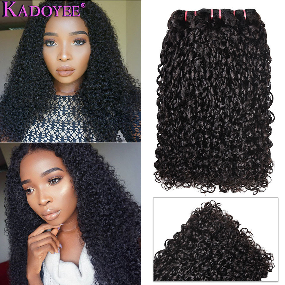 Normal Double Drawn Human Hair Pixie Curls Bundles 1/3/4 Hair Weaving Funmi Hair Kinky Curly Bundles Brazilian Hair Weave Bundle