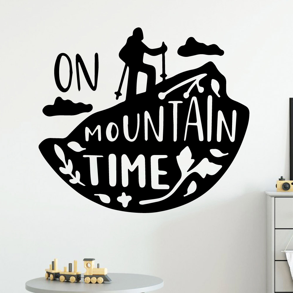 Fun mountain time Wall Sticker Pvc Wall Art Stickers Modern Fashion Wallsticker For Baby Kids Rooms Decor Vinyl Art Decal
