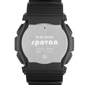 Image 5 - Montre homme numérique 2019 Sport Spovan montre bracelet noir rétro éclairage 2019 étanche qualité militaire A Erkek Kol Saati forte