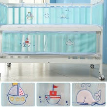 Baby Bed Bumper Breathable Mesh Crib Protector Bedding Set Croth To The Cot 2 Pcs Lot Fit For All Size Round