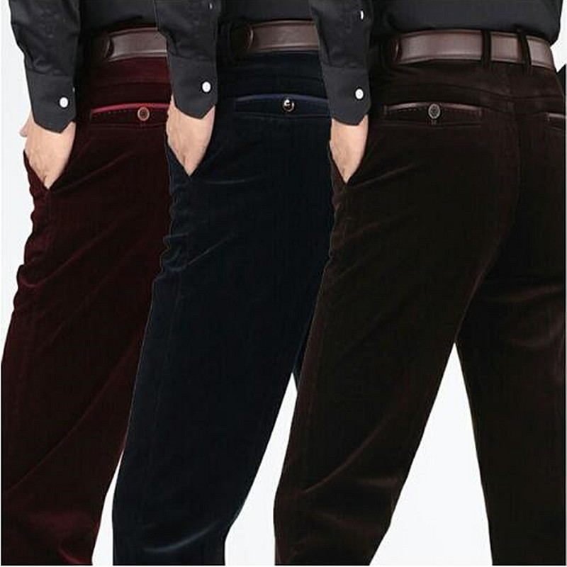 Corduroy pants loose middle-aged men middle-aged men dad installed in autumn and winter 2017 men's casual pants corduroy 31-40