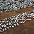 Lot Meter Stainless Steel Silver Boys Charm Oval Chain DIY Jewelry Making 3mm(LT-024)