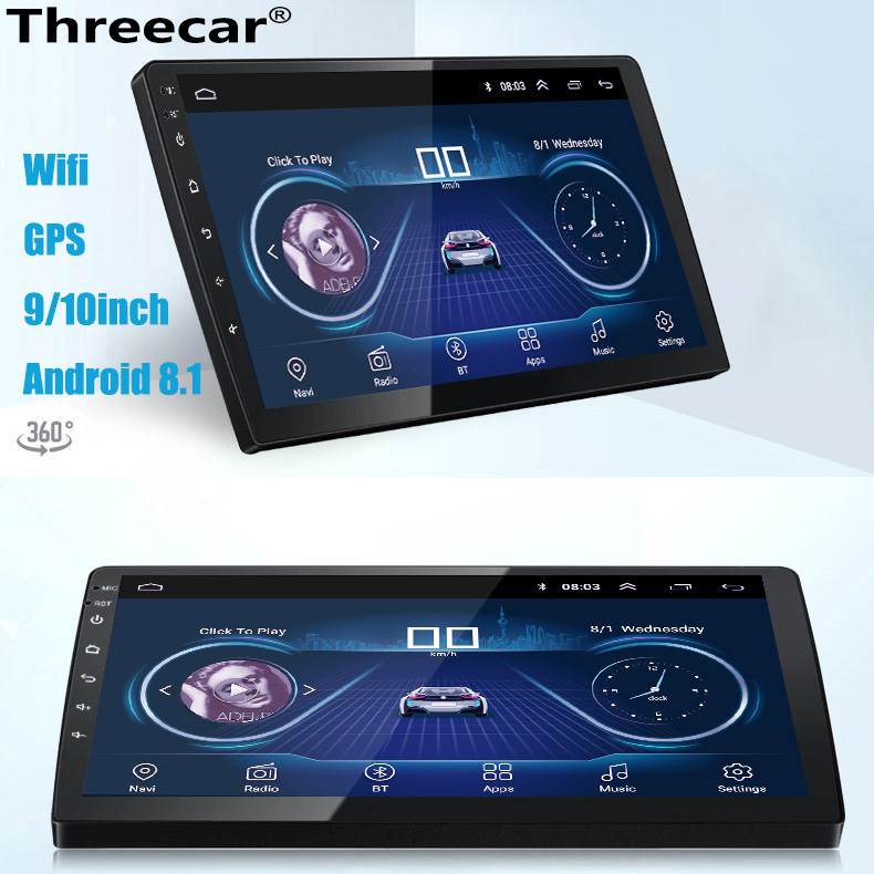 9/10 Inch Android 8.1 Universal Car Radio 2din android Car Radio DVD Player GPS NAVIGATION WIFI Bluetooth MP5 Player Rear Camera