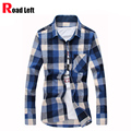 2016 Long Sleeve Fashion Men Dress Shirts Fannel Slim Fit Mens Plaid  Shirts Vestidos Chemise Homme Camisa Masculina Social