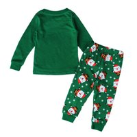 New Fashion Christmas Pyjamas Kids Childrens Pajamas Santa Claus Deer Printing Boy Girl Sleepwear Nightwear Kids