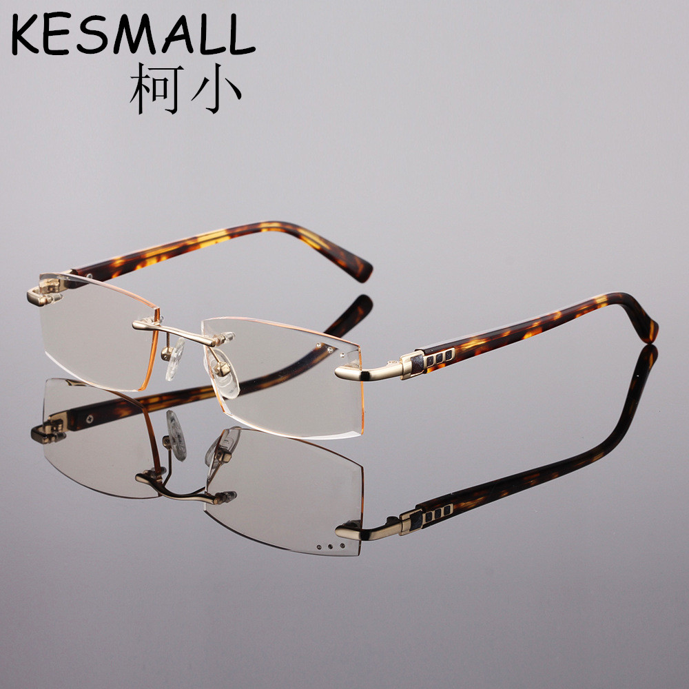 88a2d01835ba4 2018 Rimless Reading Glasses Men Elegant Eyeglasses Metal Frame Reader  Glasses Oculos de Grau Old People Reading Glasses YJ828-in Reading Glasses  from ...