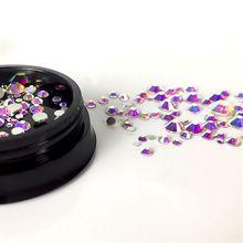 1 Box Crystal AB SS4 SS6 SS8 SS10 Mix Rhinestones Nail Art Flat Back Stones Non Hotfix Gems Style Crystals Zircon CZB14