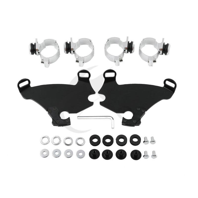 39 mm Gauntlet Fairing Fork Bracket Trigger Lock Mount Kit For Harley Dyna Sportster XL FXDB XL1200 XL883 the gauntlet