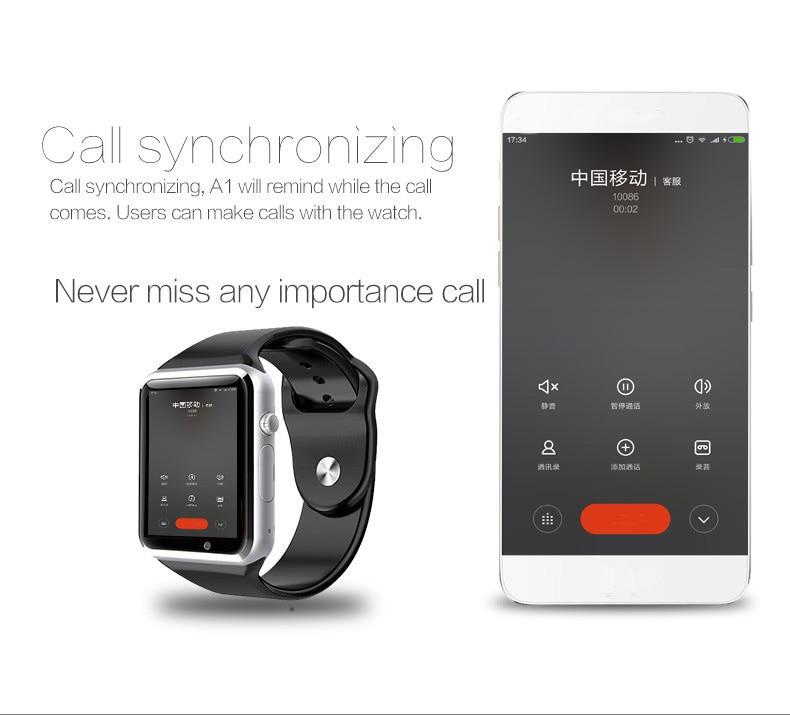 A1 WristWatch Bluetooth Smart Watch 0044