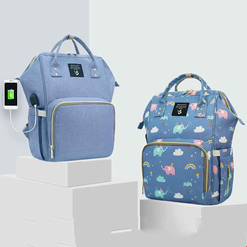 Large Capacity Mommy Maternity Diaper Bag Printed Nappy Bag Waterproof Diaper Bag Backpack For Stroller Nursing Baby Care #C