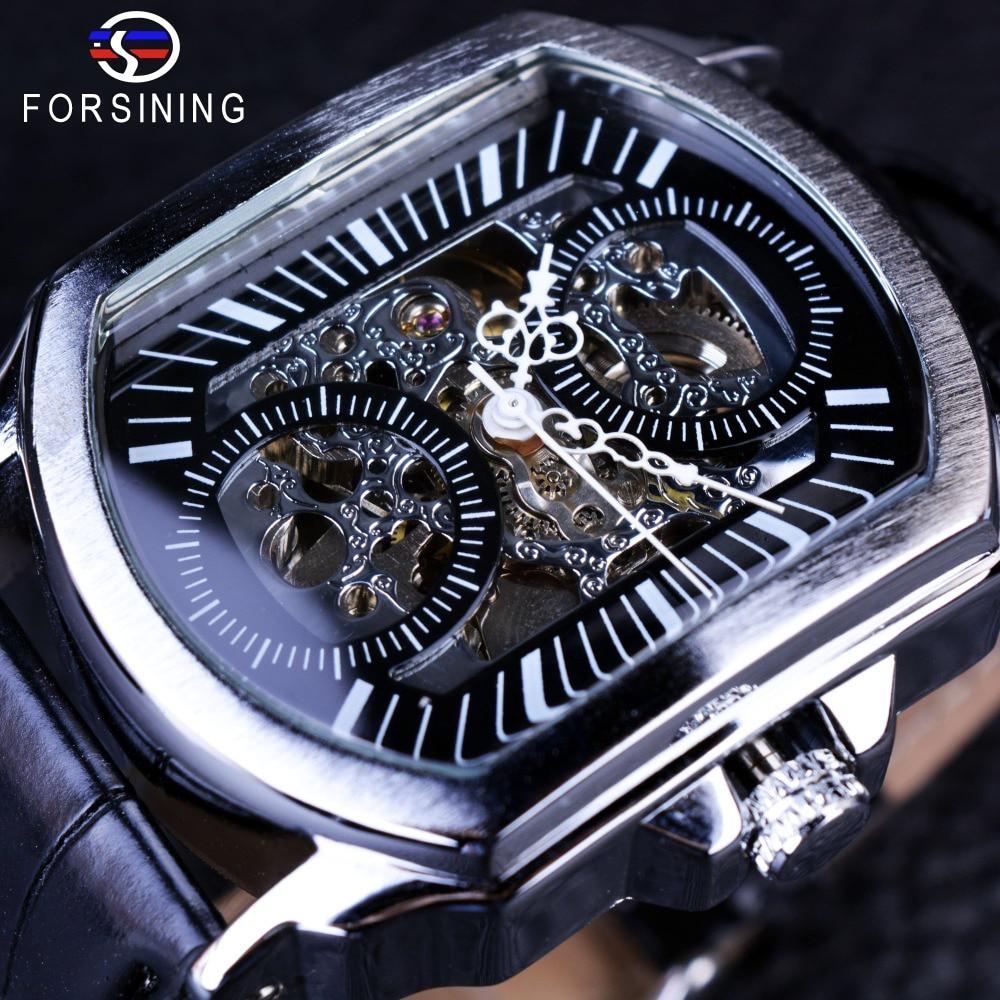 Winner 2016 Retro Classic Designer Silver Stainless Steel Case Men Watches Top Brand Luxury Mechanical Automatic Watch Clock Men