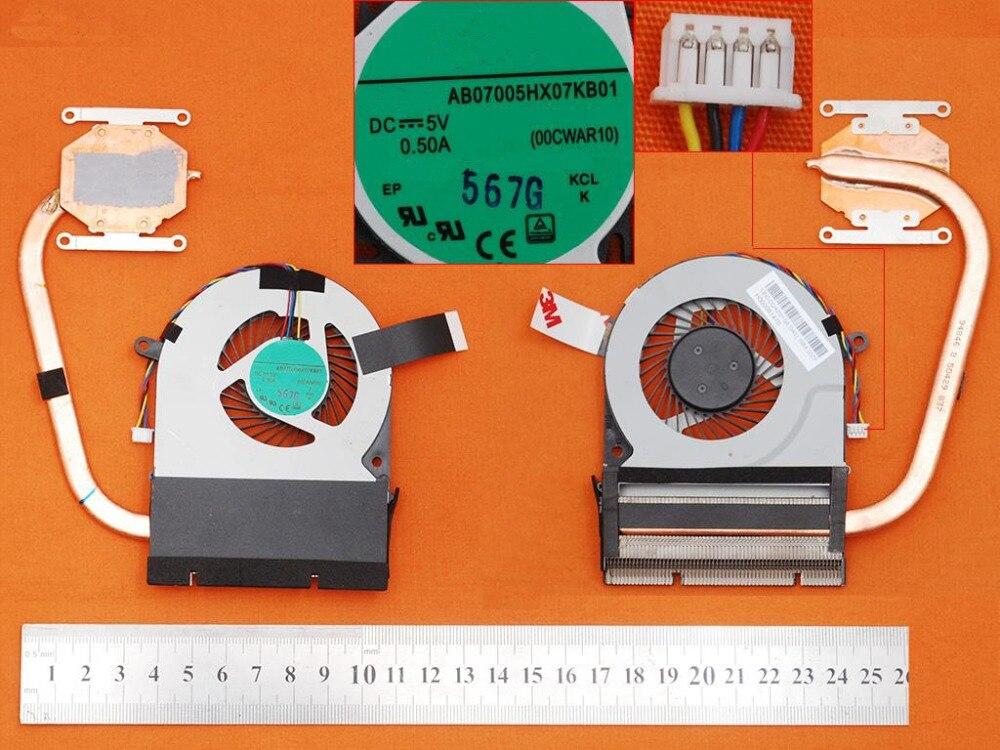 Brand Laptop Fan Heatsink for Toshiba Satellite C75D-C H000081470 PN:AB07005HX07KB01 CPU Cooler/Radiator