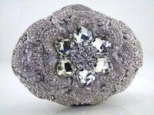 Luxus Kristall Verkrustete Taschen Frauen Diamant Silber Gold Abendtasche für Party Geldbörse Prom Tag Clutches Bling Bankett Taschen 88169