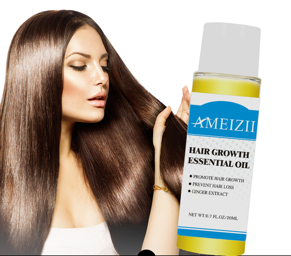 AMEIZII Hair Growth Essential Oil Essence Natural Hair Loss Liquid Hair Care Beauty Treatment Preventing Dense Hair Growth Serum 6
