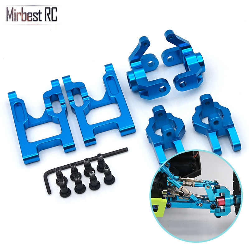 Base C steering cup met metalen front swing arm set 1/12 RC auto accessoires Voor WLtoys 12428 FY-03 JJRC Q39 upgrade onderdelen kit