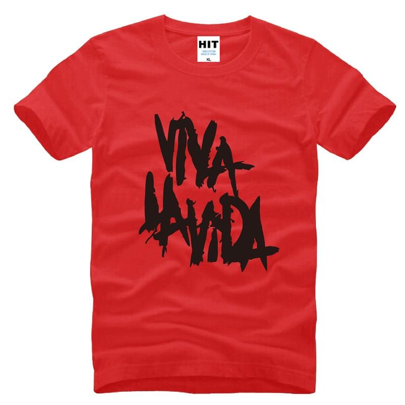 Rock coldplay Viva la vida lös T-shirt herr T-shirt för män 2015 - Herrkläder - Foto 6