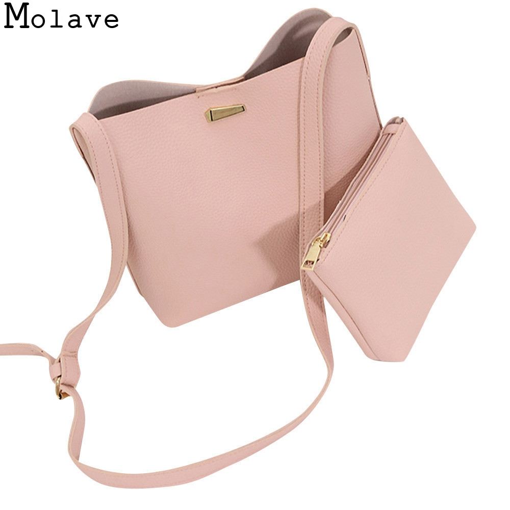 2PC Women New High Quality Pure Pu Leather Crossbody Bags ...  2PC Women New H...