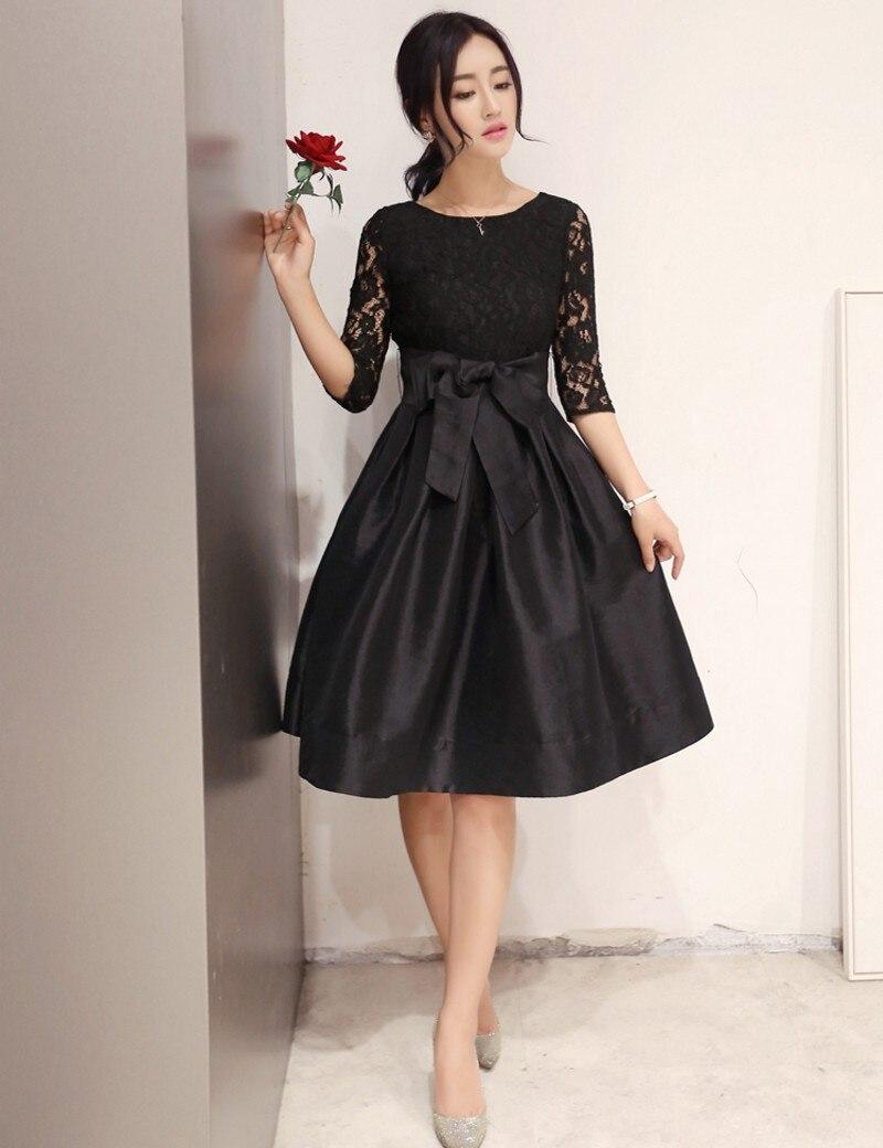 50er Jahre Kleid 2016 neue Retro elegante Bogen Gürtel Spitze - Damenbekleidung - Foto 2