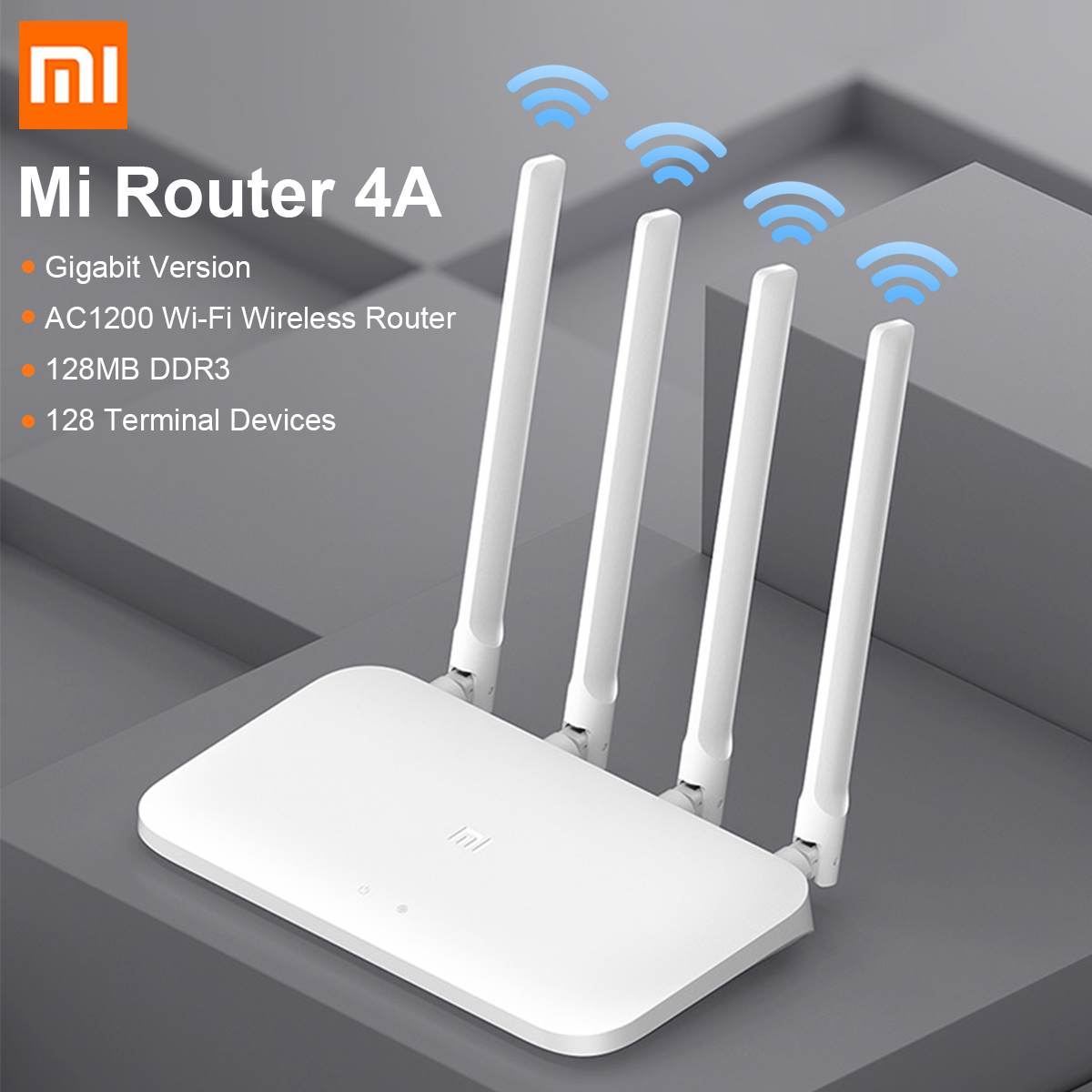 Xiaomi WiFi Router 4A Wireless 2.4G&5GHz 1167Mbps Dual 128M DDR3 Memory WiFi Repeater 4 External Antennas Network Extender APP