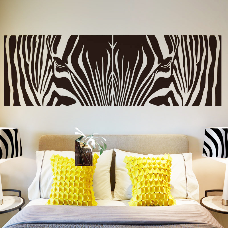 New Design Fashion Abstract Art Zebra Pattern Wall Sticker Creative Removable Vinyl Home Decor Cheap Wall