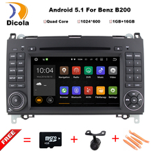 Deux Din 7 Pouce Android Lecteur DVD de Voiture Pour Mercedes/Benz/Sprinter/W209/W169Viano/Vito/B200/A160 Wifi GPS Navigation Radio FM