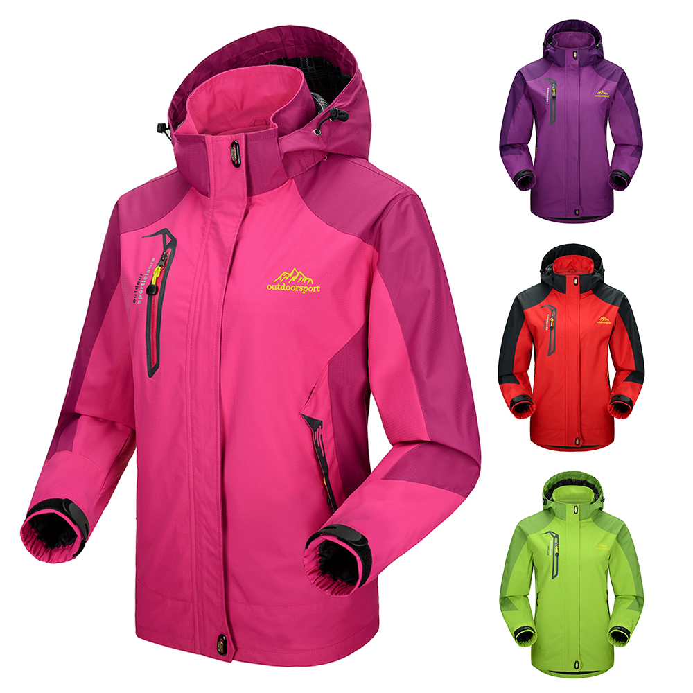 856dbca4a71 Detail Feedback Questions about Waterproof Jacket Windproof Raincoat  Sportswear Outdoor Hiking Traveling Cycling Sports Detachable Hooded Coat  for Women on ...