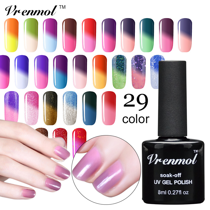 vrenmol temperature color changing gel nail polish 8ml mood nail gel uv vernis semi permanent. Black Bedroom Furniture Sets. Home Design Ideas