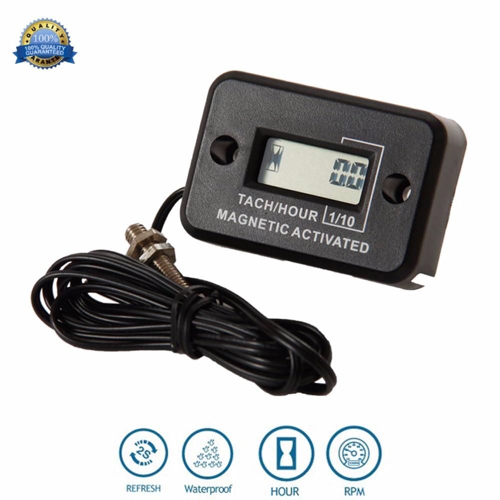 Digital Gasoline Hour Meter Tachometer for mining machinery concrete mixer  generator Excavator roller mast crane RL HM012C-in Instruments from  Automobiles ...